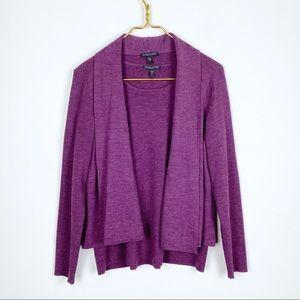Eileen Fisher Merino Wool 2 Piece Sweater Tank Set